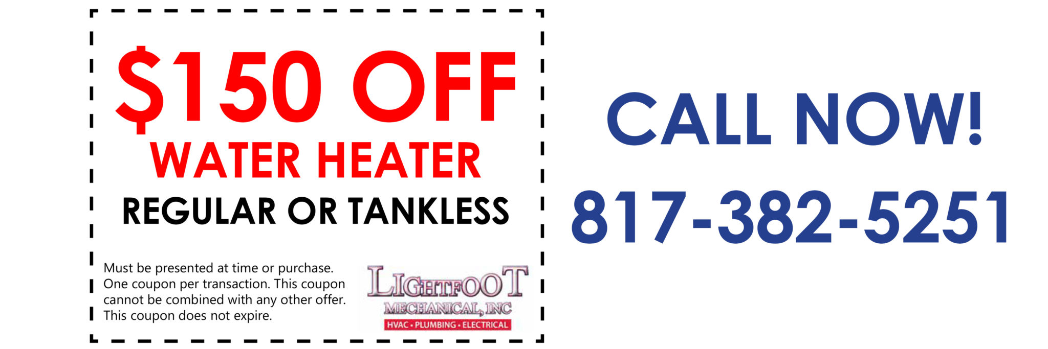 water heaters extended coupon