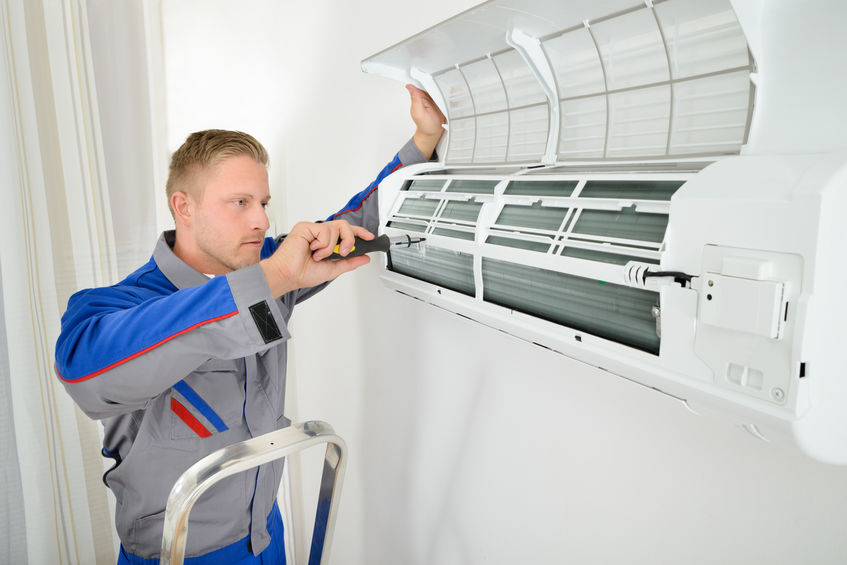 tech performs ac unit maintenance near me weatherford tx