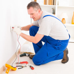 electrician performing electrical safety inspection weatherford tx